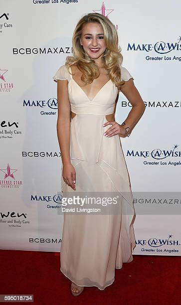 Dancer/TV personality Chloe Lukasiak attends the MakeAWish Greater Los Angeles Fashion Fundraiser at Taglyan Cultural Complex on August 24 2016 in...