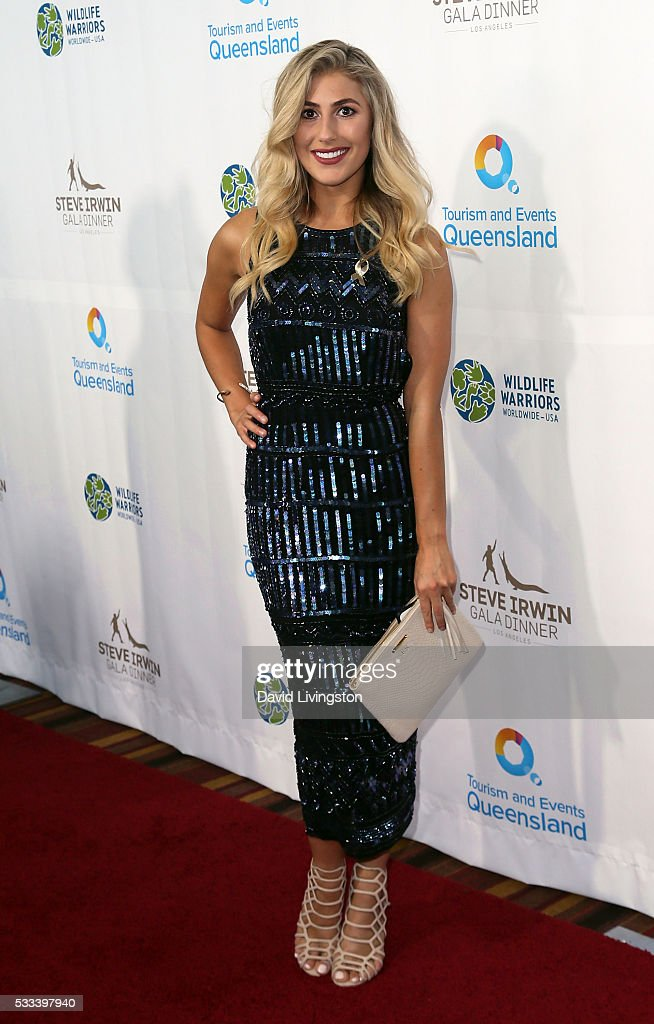 Dancer/TV personality Emma Slater attends the Steve Irwin Gala Dinner at JW Marriott Los Angeles at L.A. LIVE on May 21, 2016 in Los Angeles, California.