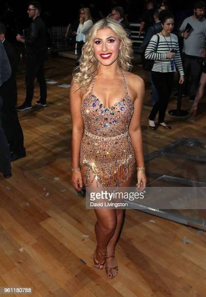 Dancer/TV personality Emma Slater poses at ABC's 'Dancing with the Stars Athletes' Season 26 Finale on May 21 2018 in Los Angeles California