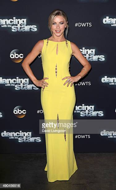 Dancer/TV personality Julianne Hough attends 'Dancing with the Stars' Season 21 at CBS Television City on September 28 2015 in Los Angeles California