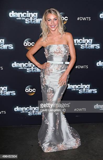 Dancer/TV personality Julianne Hough attends 'Dancing with the Stars' Season 21 at CBS Televison City on November 9 2015 in Los Angeles California