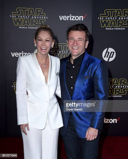 Dancer/TV personality Kym Johnson and businessman/TV personality Robert Herjavec arrive at the premiere of Walt Disney Pictures' and Lucasfilm's Star...