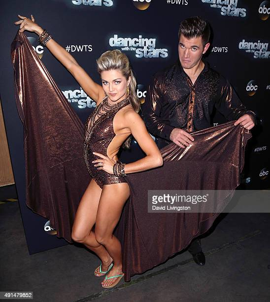 Dancer/TV personality Lindsay Arnold and Army National Guard Specialist Alek Skarlatos attend 'Dancing with the Stars' Season 21 at CBS Televison...