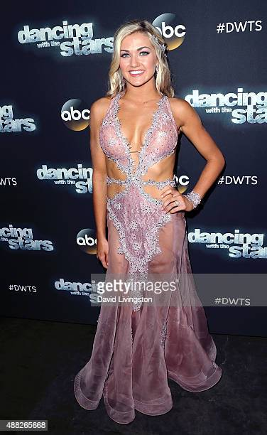 Dancer/TV personality Lindsay Arnold attends ABC's Dancing with the Stars photo op at CBS Studios on September 14 2015 in Los Angeles California