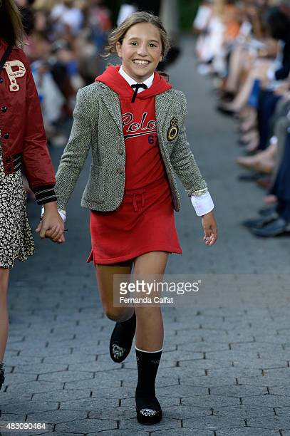 Dancer/tv personality Mackenzie Ziegler walks at Ralph Lauren Children's Fashion Show at Central Park Zoo on August 5 2015 in New York City