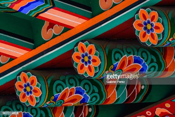 a dancheong in texas - korea stock pictures, royalty-free photos & images