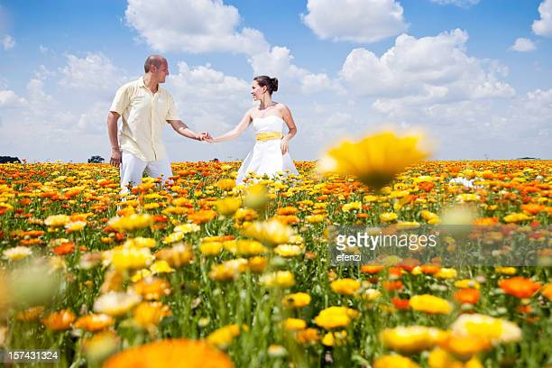 Tanz unter Blumen