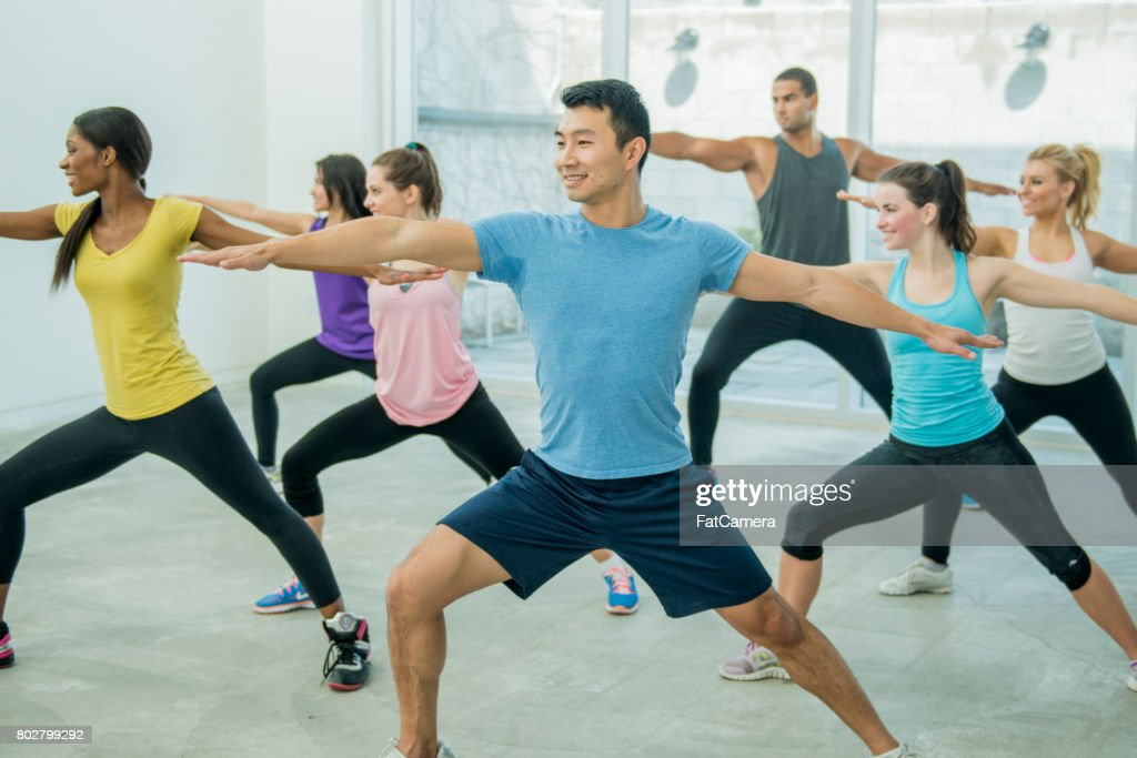 Dancing and Stretching : Stock Photo