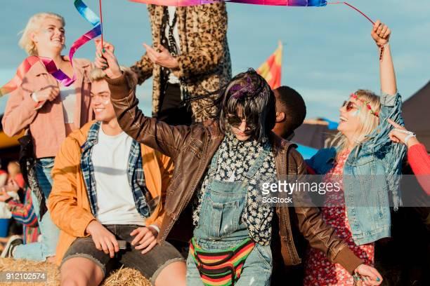 Tanzen auf einem Festival