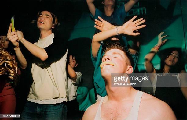 Dancing at Gatecrasher Mille Seoul Korea 2000