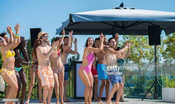 Dancing At Pool Party