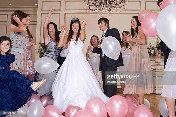dancing at quinceanera - quinceanera stock pictures, royalty-free photos & images
