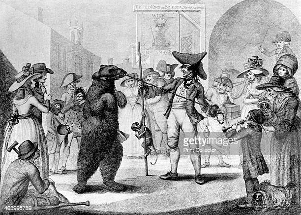 'Dancing Bear' 1785 Illustration from Social Caricature in the Eighteenth Century With over two hundred illustrations by George Paston [pseudonym of...