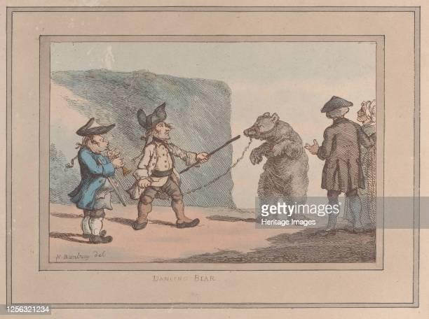 Dancing Bear, 1800-1827. Artist Thomas Rowlandson.