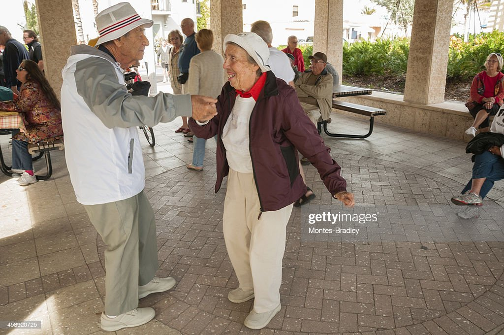 Dancing Centenarians : Stock Photo