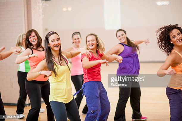 dancing class - salsa dancing stock photos and pictures