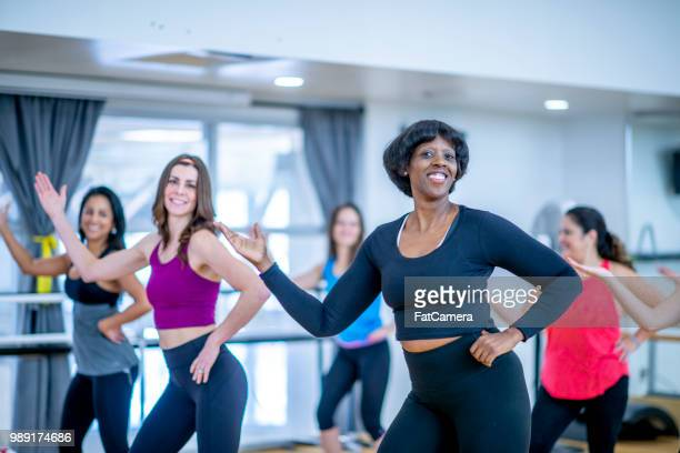 dancing class - chubby asian woman stock pictures, royalty-free photos & images