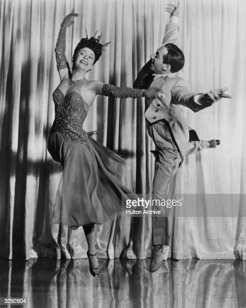 Dancing couple Tony and Sally De Marco perform a dance number in the 20th Century Fox music and dance extravaganza 'Greenwich Village', directed by...