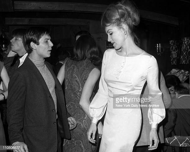 Dancing disco at the Ondine Club is usually well filled with quota of celebrities such as Julie Newmar who's all wound up