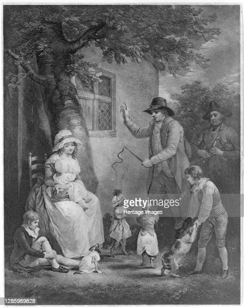 Dancing Dogs, 1790. Artist Thomas Gaugain.