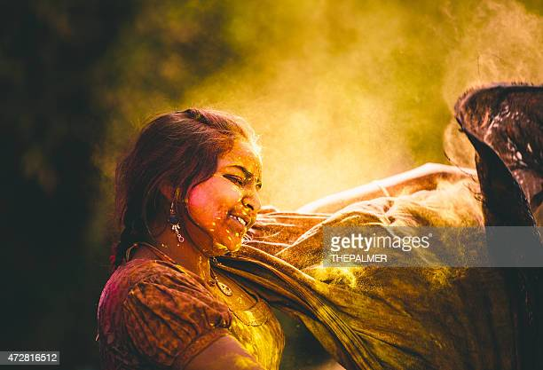 Dancing during Holi Festival