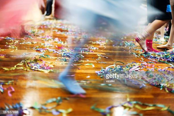 dancing feet at party floor - ballroom dancing stock pictures, royalty-free photos & images