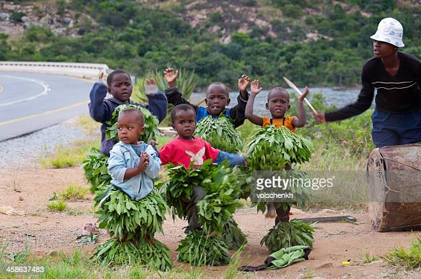dancing for money - swaziland stock photos and pictures