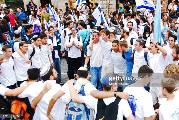 dancing for the independence of israel. - israel stock pictures, royalty-free photos & images