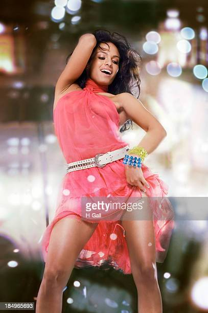 dancing girl - women in see through dresses stock photos and pictures