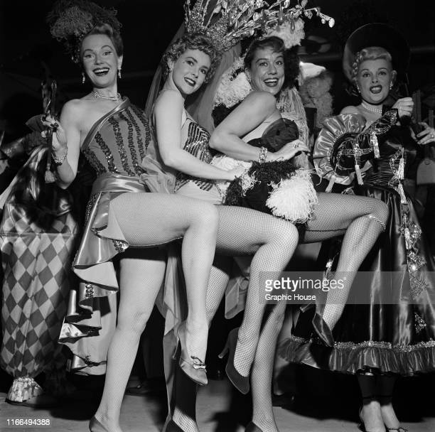 Dancing girls at a benefit performance of the Ringling Brothers Barnum and Bailey Circus in New York City, 31st March 1954. The event is in aid of...