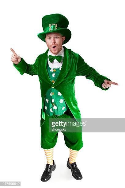dancing howling leprechaun - leprechaun stock pictures, royalty-free photos & images