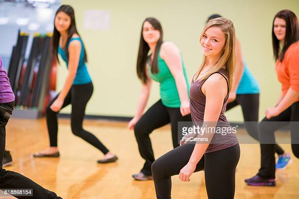 Dancing in a Fitness Class at the Gym