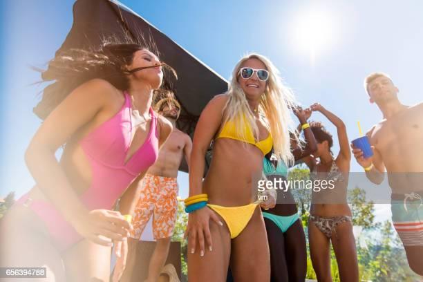 Dancing in bikini