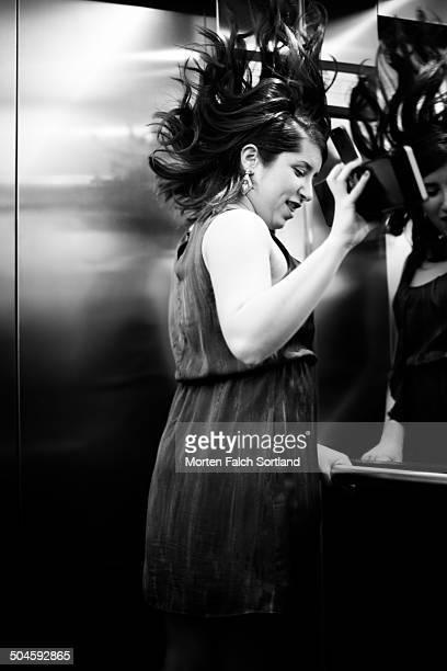 Dancing in elevator
