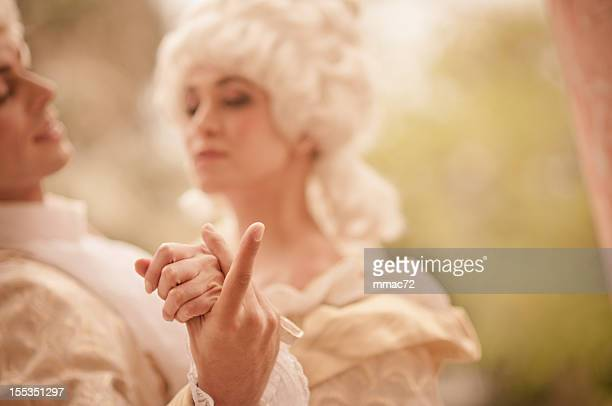 dancing in  old french costumes - 18th century style stock pictures, royalty-free photos & images