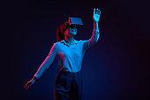 Dancing in virtual reality glasses