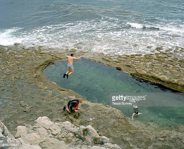 Dancing Ledge Langton Matravers Swanage Dorset Blasted into the rock to provide bracing exercise for pupils from a nearby prep school Dancing Ledge...