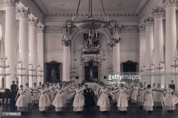 Dancing Lesson. The 'Mazurka'.; Karl Karlovitz Bulla. Russian. 1854 - 1929; before 1917; Gelatin silver print; Image: 18.4 x 27.9 cm .