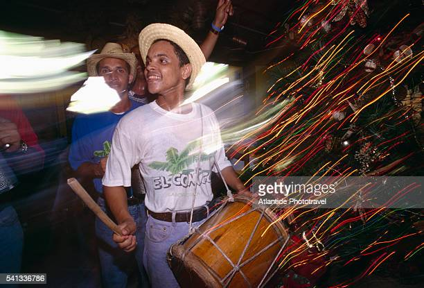 Dancing Marimba at El Conuco Restaurant