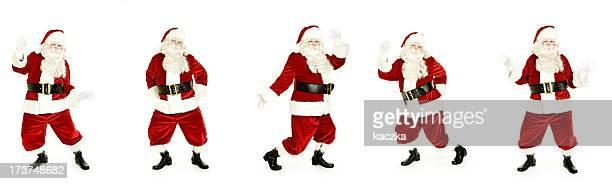 Tanz Santa, isoliert auf weiss
