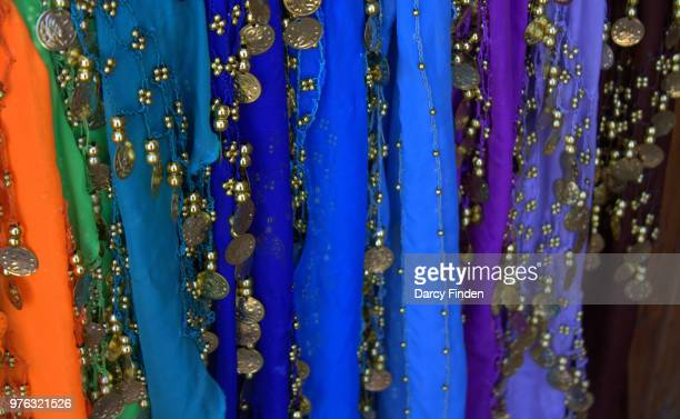 dancing scarves - belly dancing stock photos and pictures