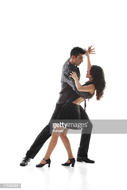dancing teen couple - salsa dancing stock photos and pictures