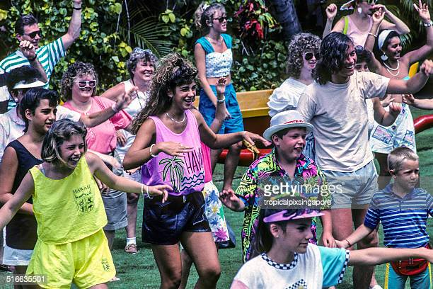 dancing the hula - chanting stock pictures, royalty-free photos & images