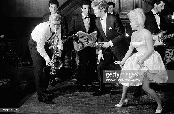 Dancing the Twist at the Club Saint Hilaire With Les Chaussettes Noires, in Paris, France, in November 1961 .