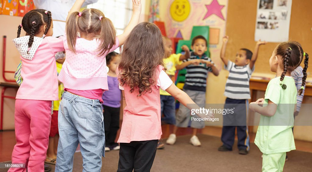 Dancing to get rid of all the energy! : Stock Photo