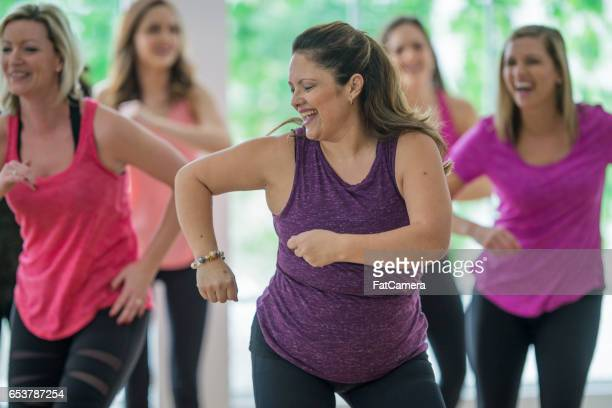 Dancing Together in a Fitness Class