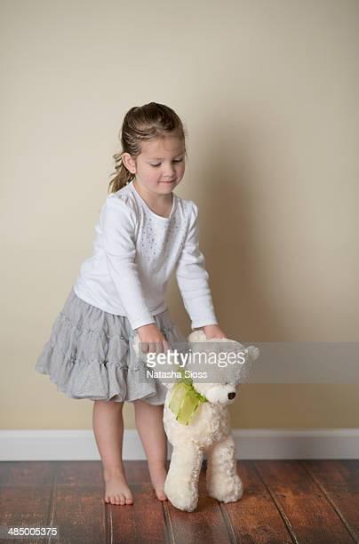 dancing with her bear - dancing bear immagine foto e immagini stock