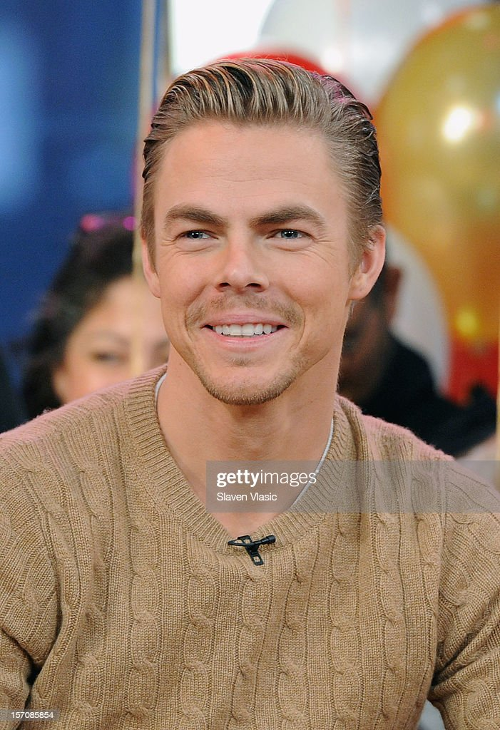 'Dancing With The Stars: All Stars' finalist Derek Hough attend ABC's Good Morning America at ABC News' Good Morning America Times Square Studio on November 28, 2012 in New York City.
