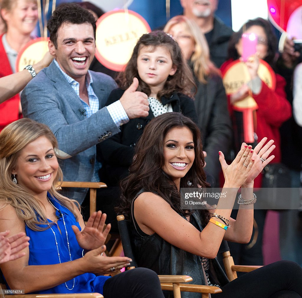 'Dancing With The Stars: All Stars' winners Melissa Rycroft (R), Tony Dovolani (2nd L), and finalist Shawn Johnson (L) attend ABC's Good Morning America at ABC News' Good Morning America Times Square Studio on November 28, 2012 in New York City.