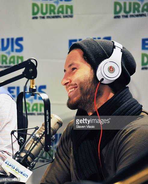 Dancing With The Stars cast member Val Chmerkovskiy visits The Elvis Duran Z100 Morning Show at Z100 Studio on January 23 2012 in New York City